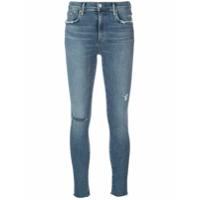 Agolde Calça Jeans Skinny Com Efeito Puído - Azul