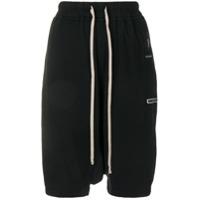Rick Owens Drkshdw Dropped Crotch Track Shorts - Preto