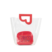 Bapy By *a Bathing Ape® Bolsa Tote Transparente - Vermelho