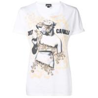Just Cavalli Camiseta Com Logo - Branco