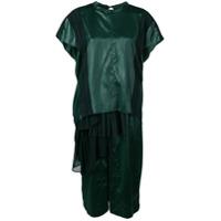Carven Vestido De Festa Com Fenda - Verde