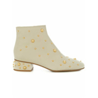 See By Chloé Ankle Boot 'jarvis' De Couro - Neutro
