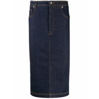 Dolce & Gabbana Saia Lápis Jeans - Azul
