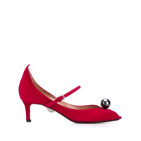 Samuele Failli Sapato Peep Toe - Vermelho