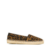 Saint Laurent Espadrille Animal Print Com Logo - Marrom