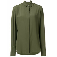 Victoria Beckham Camisa Oversized De Seda - Verde