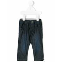 Boss Kids Calça Jeans Com Elástico Na Cintura - Azul