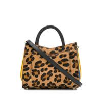 Sara Battaglia Leopard Panelleddetach Shoulder Bag - Neutro