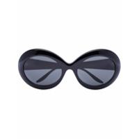 Gucci Eyewear Óculos De Sol Oversized Redondo Preto