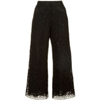 Adam Lippes Corded Lace Cropped Trousers - Preto