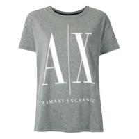 Armani Exchange T-Shirt Com Logo Estampado - Cinza