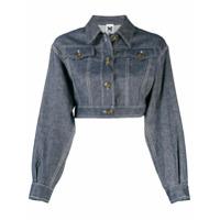 M Missoni Jaqueta Jeans Cropped - Azul