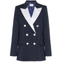 Racil Casablanca Pinstripe Wool Blazer - Azul