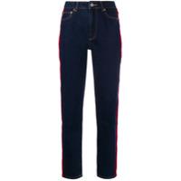 Fiorucci Calça Jeans Tara Com Fita De Veludo Lateral - Azul