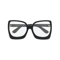 Tom Ford Eyewear Armação De Óculos Oversized Quadrada - Preto