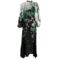 Givenchy Vestido Longo Com Estampa Floral - Preto
