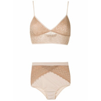 Lethicia Bronstein Conjunto Hot Pants E Sutiã - Neutro