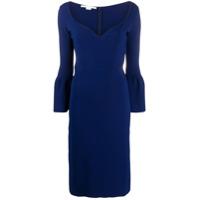 Stella Mccartney Vestido Reto Com Decote Coração - Azul