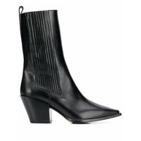 Aeyde Ankle Boot Ari Canelada - Preto