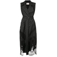Jason Wu Collection Striped Blazer Dress - Preto