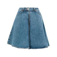 Aalto Saia Jeans Evasê - Azul
