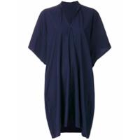 Y's Vestido Drapeado - Azul