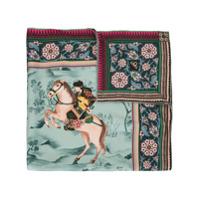 Shanghai Tang Lenço De Seda Mongolian Horsemen - Colorido