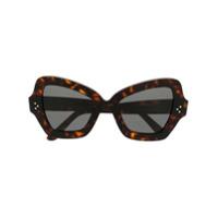 Celine Eyewear Óculos De Sol Borboleta - Marrom