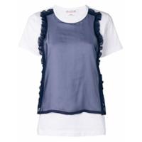 Comme Des Garçons Girl Camiseta Com Recortes Contrastantes - Branco