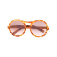 Chloé Eyewear Óculos De Sol Redondo - Marrom