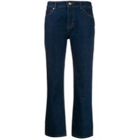 Victoria Victoria Beckham Calça Jeans Flare Cropped Cintura Alta - Azul