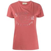 Maison Kitsuné Camiseta Com Logo - Rosa