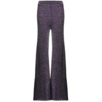 M Missoni Calça Pantalona De Tricô - Roxo