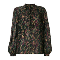 Saint Laurent Blusa Estampada - Preto