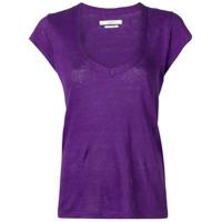 Isabel Marant Étoile V-Neck T-Shirt - Roxo