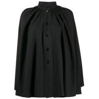 Lemaire Flared Mandarin Collar Shirt - Preto