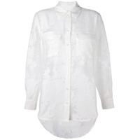 Equipment Camisa Jacquard Translúcida - Branco