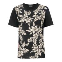Moncler Camiseta Floral - Preto