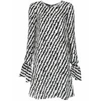 Emporio Armani Vestido De Seda Estampado - Preto