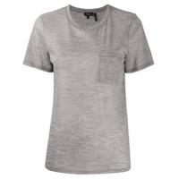 Theory Camiseta Gola Redonda Com Bolso Frontal - Cinza