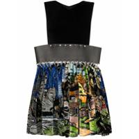 Chopova Lowena Vestido Mini Com Recortes - Preto