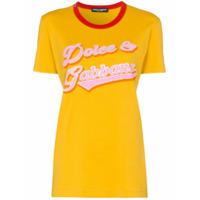 Dolce & Gabbana Camiseta Com Estampa De Logo - Amarelo