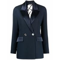 Raquette Blazer Com Abotoamento Duplo E Detalhe De Amarração - Azul