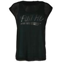 Diesel Camiseta T-Slicut Com Sobreposição - Preto