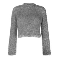 Plys Cropped Knit Jumer - Cinza