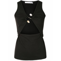 Christopher Esber S-Buckle Cut-Out Tank Top - Preto