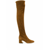 Alberta Ferretti Over The Knee Heeled Boots - Marrom