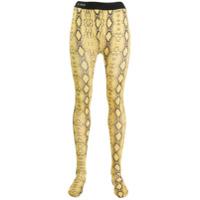 Laneus Legging Com Estampa Pele De Cobra - Amarelo