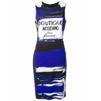 Boutique Moschino Vestido Estampado Com Embalagem De Perfume - Azul