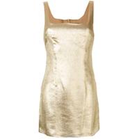 De La Vali Vestido Com Efeito De Glitter - Dourado